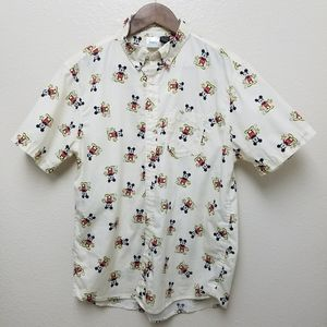 VINTAGE MICKEY MOUSE SHORT SLEEVE BUTTON UP SHIRT